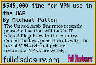 Uae fine using vpn