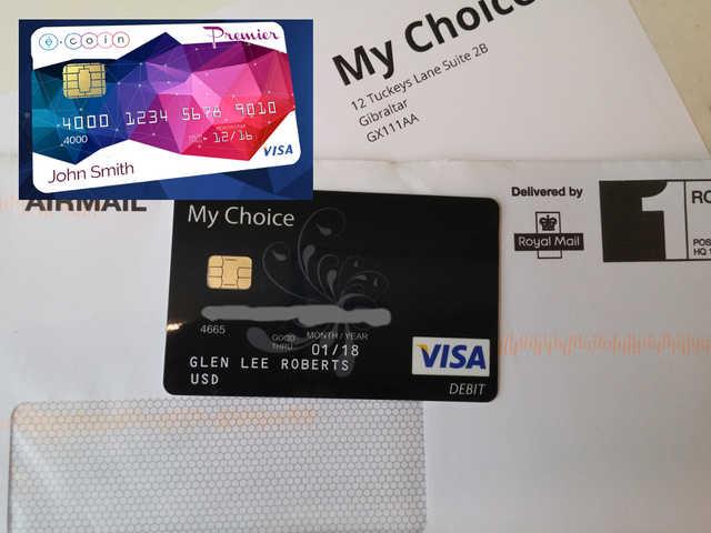 forum post e coin io bitcoin based debit card visa received