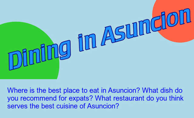 Forum Post Dining In Asuncion Total Paraguay - Where is asuncion