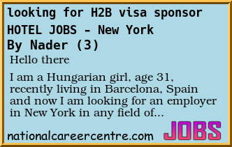 Forum Post: looking for H2B visa sponsor - HOTEL JOBS - New
