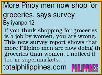 7092e3068 If you think shopping for groceries is a job by women, you are wrong. This  new survey report shows that more Filipino men are now doing the groceries  than ...