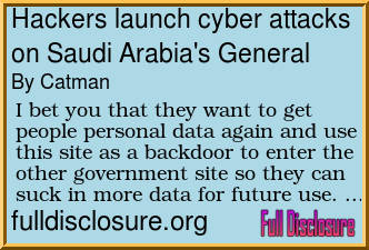 Forum Post: Hackers launch cyber attacks on Saudi Arabia's