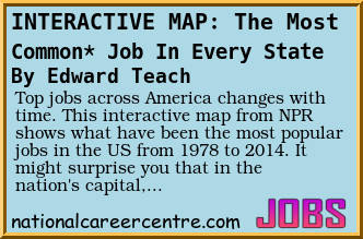 top jobs across america changes with time this interactive map from npr shows what have been the most popular jobs in the us from 1978 to 2014 - Most Popular Jobs In America Most Popular Careers In The Usa