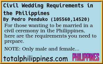 Forum Post: Civil Wedding Requirements in the Philippines
